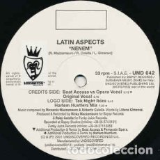 Discos de vinilo: LATIN ASPECTS – NENEM. Lote 285481768