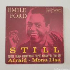 Discos de vinilo: EP EMILE FORD & THE CHECKMATES - STILL/+3 (DINAMARCA - METRONOME - 1960) CLASSIC UK R&R!. Lote 285490693