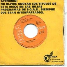 Disques de vinyle: ACUARIO / REMA,REMA,REMA / ESO ES EL AMOR (SINGLE RCA 1978). Lote 285511548