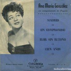 Dischi in vinile: ANA MARIA GONZALEZ / MADRID + 3 (EP COLUMBIA 1959). Lote 285517903