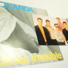 Discos de vinilo: SINGLE DANZA INVISIBLE. YOLANDA. TWINS 1991 SPAIN POSTAL GRUPO (PROBADO, BIEN, SEMINUEVO). Lote 285530453
