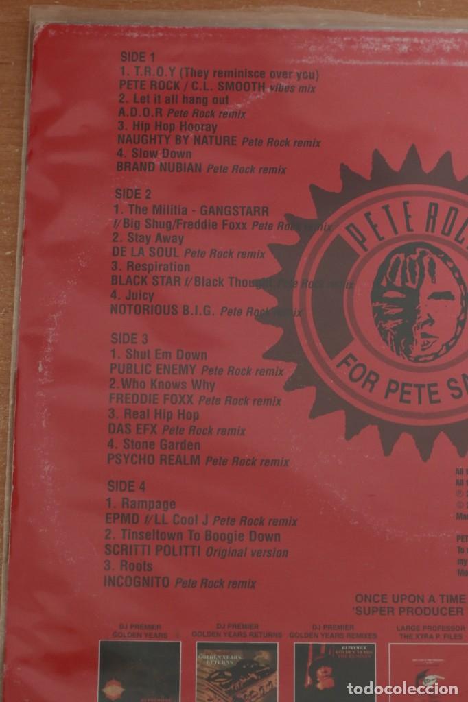 Discos de vinilo: PETE ROCK - 4 PETE SAKE: THE PETE ROCK YEARS REMIXES VOL. 1 - USA - 2003 - VG/VG+ - Foto 4 - 285607088