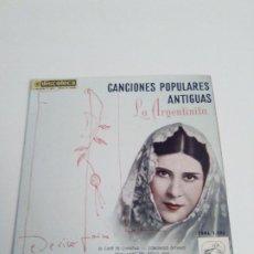 Discos de vinilo: LA ARGENTINITA CANCIONES POPULARES ANTIGUAS EL CAFÉ DE CHINITAS + 3 ( 1958 EMI ESPAÑA ) EX EX. Lote 285632948