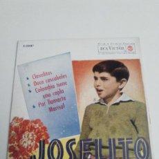 Discos de vinilo: JOSELITO CLAVELITOS + 3 ( 1962 RCA VICTOR ESPAÑA ) EXCELENTE ESTADO. Lote 285633148