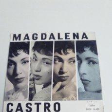 Discos de vinilo: MAGDALENA CASTRO LA YEDRA + 3 ( 1961 ODEON ESPAÑA ) EXCELENTE ESTADO. Lote 285633318
