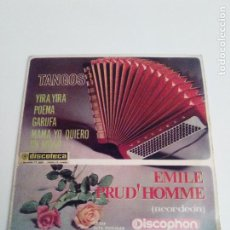 Discos de vinilo: EMILE PRUD' HOMME TANGOS YIRA YIRA + 3 ( 1964 DISCOPHON ESPAÑA ) EXCELENTE ESTADO. Lote 285633488