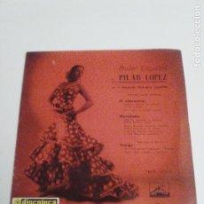 Discos de vinilo: PILAR LOPEZ BALLET ESPAÑOL ( 1958 LA VOZ DE SU AMO ESPAÑA ) EXCELENTE ESTADO. Lote 285633958