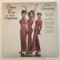 Discos de vinilo: DIANA ROSS AND THE SUPREMES – 25TH ANNIVERSARY, 3 LPS, EUROPE 1986 TAMLA MOTOWN. Lote 285637403