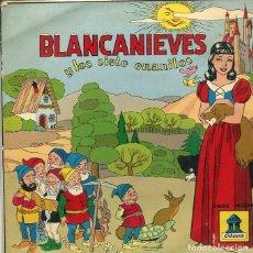 Discos de vinilo: BLANCA NIEVES Y LOS SIETE ENANITOS (EP ODEON RECONSTRUCCION TECNICA AÑO 1954). Lote 285654408