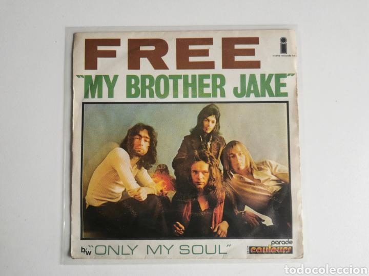 SINGLE VINILO 7 FREE MY BROTHER JAKE EDICIÓN FRANCESA AÑO 1971 (Música - Discos - Singles Vinilo - Pop - Rock - Internacional de los 70)