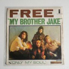 Discos de vinilo: SINGLE VINILO 7 FREE MY BROTHER JAKE EDICIÓN FRANCESA AÑO 1971. Lote 285660033