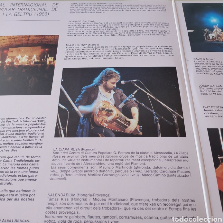 Discos de vinilo: VI FESTIVAL MÚSICA POPULAR VINALOVA I LA GELTRÚ 2LPS - Foto 3 - 285668888