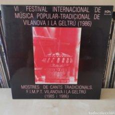 Discos de vinilo: VI FESTIVAL MÚSICA POPULAR VINALOVA I LA GELTRÚ 2LPS. Lote 285668888