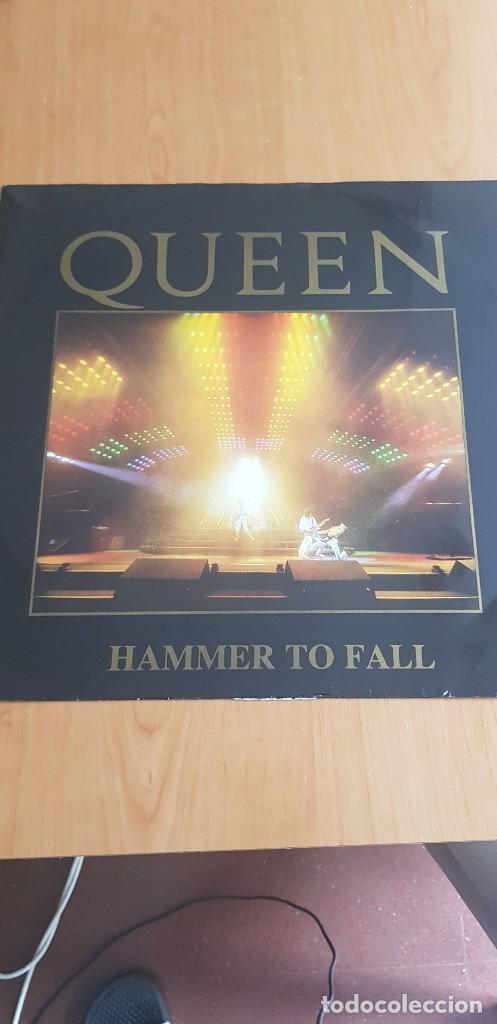 QUEEN - HAMMER TO FALL / TEAR IT UP (EMI 1984 12QUEEN4) LIVE SLEEVE ULTRA RARO!!!!!! (Música - Discos de Vinilo - Maxi Singles - Pop - Rock Internacional de los 70)