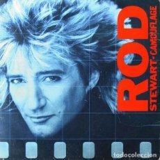 Disques de vinyle: LP - ROD STEWART – CAMOUFLAGE (POP ROCK). Lote 285758523