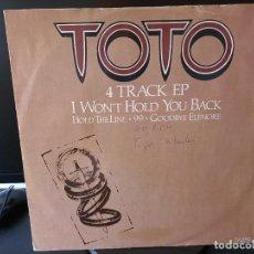 Discos de vinilo: TOTO - MAXY 4 TEMAS. Lote 285762308