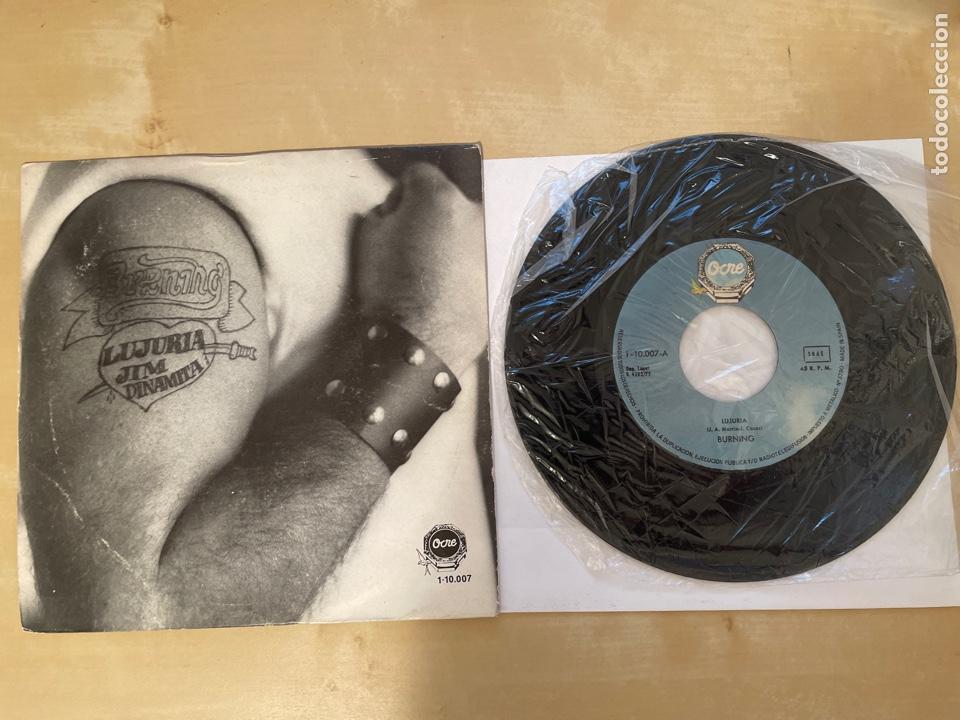BURNING - LUJURIA - SINGLE PROMO 1978 - SPAIN (Música - Discos - Singles Vinilo - Grupos Españoles de los 70 y 80)