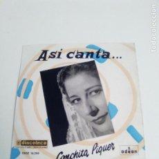 Discos de vinilo: CONCHITA PIQUER ASI CANTA ( 1959 EMI ODEON ESPAÑA ) EXCELENTE ESTADO. Lote 285809993