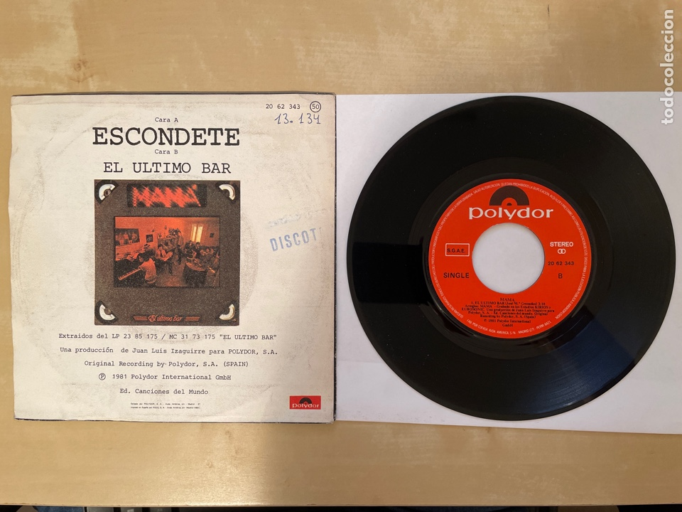 Discos de vinilo: Mama - Escondete - SINGLE 1981 - SPAIN - Foto 3 - 285810583