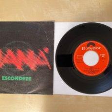 Discos de vinilo: MAMA - ESCONDETE - SINGLE 1981 - SPAIN. Lote 285810583