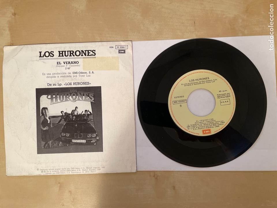 Discos de vinilo: Los Hurones - El Verano - SINGLE 1988 - SPAIN - Foto 3 - 285812063