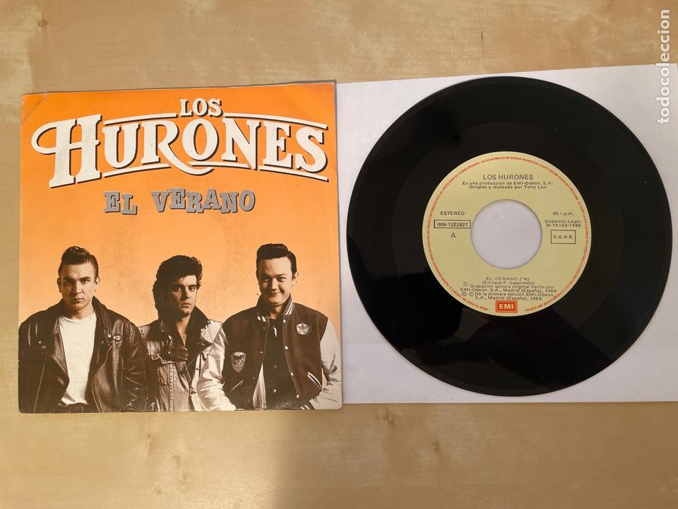 LOS HURONES - EL VERANO - SINGLE 1988 - SPAIN (Música - Discos - Singles Vinilo - Grupos Españoles de los 70 y 80)