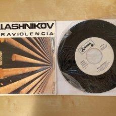 Discos de vinilo: KALASHNIKOV - ULTRAVIOLENCIA - SINGLE VINILO - SPAIN ( AVIADOR DRO ). Lote 285813258