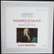 Discos de vinilo: DOMENICO SCARLATTI SONATAS PARA CLAVE ARCHIV PRODUKTION. Lote 285814213