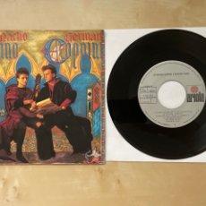 Discos de vinilo: GERMAN COPPINI & NACHO CANO - DAME UN CHUPITO - SINGLE VINILO 1986 - SPAIN. Lote 285981733