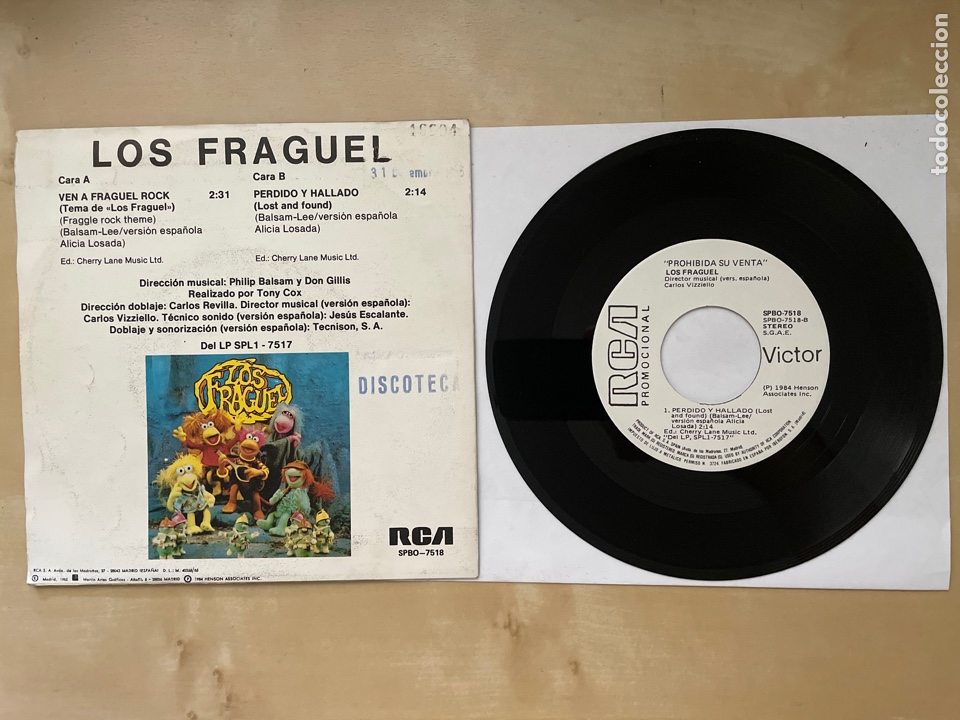 Discos de vinilo: Fraggle Rock - Ven A Fraggle Rock - Single Promo 1985 - SPAIN - Foto 3 - 285987128
