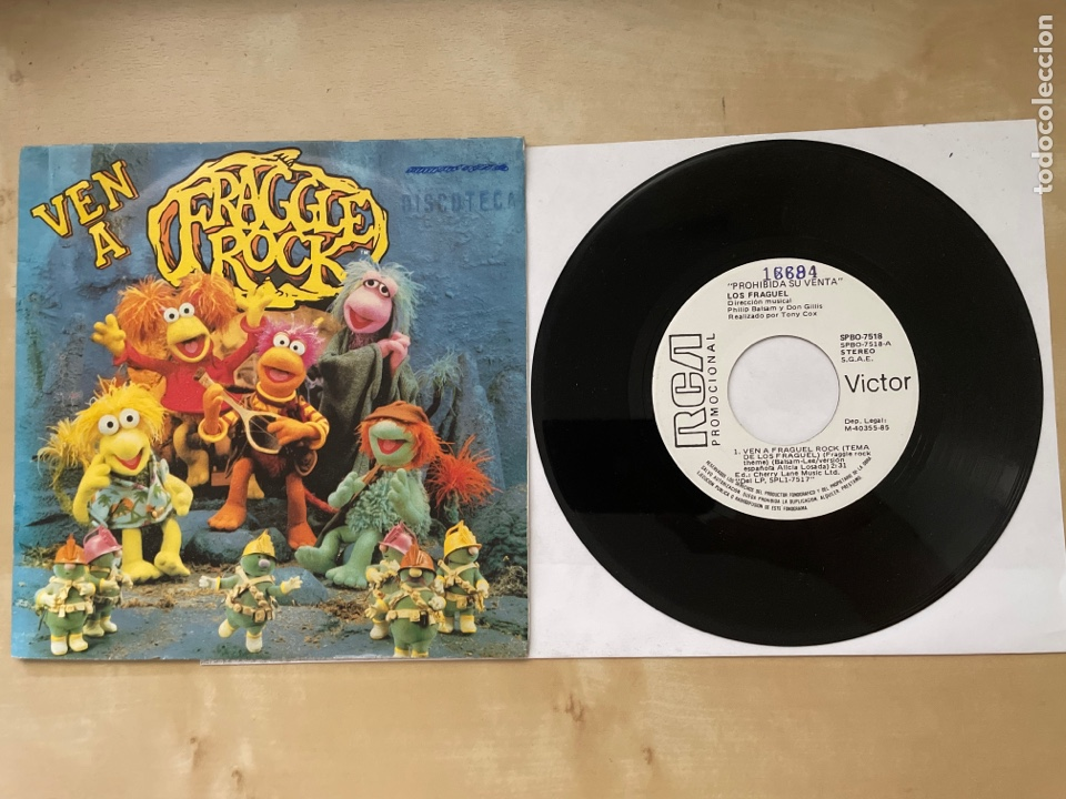 FRAGGLE ROCK - VEN A FRAGGLE ROCK - SINGLE PROMO 1985 - SPAIN (Música - Discos - Singles Vinilo - Música Infantil)