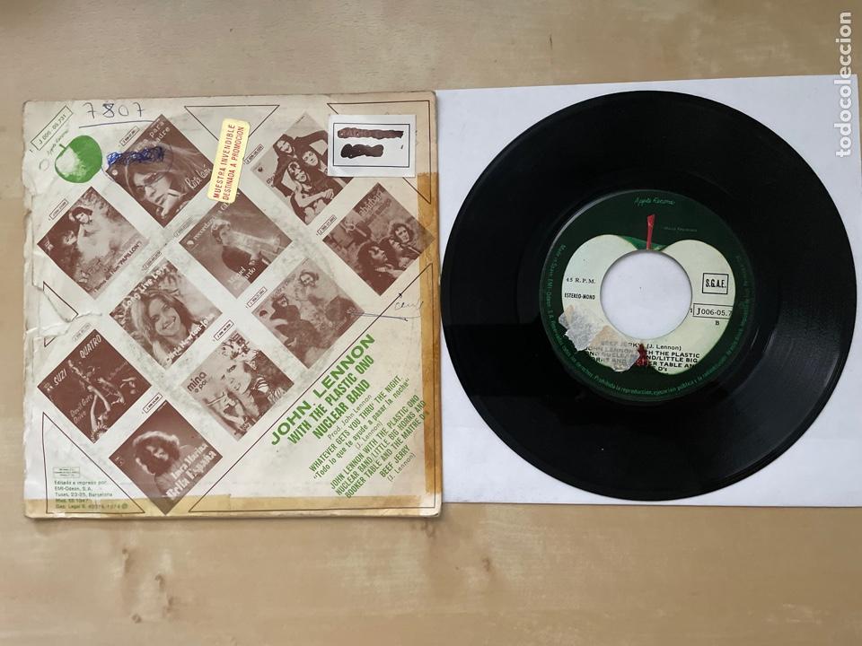 Discos de vinilo: John Lennon - Whatever Gets You Thru The Night - Single Promo 1974 - SPAIN - The Beatles - Foto 3 - 285999073