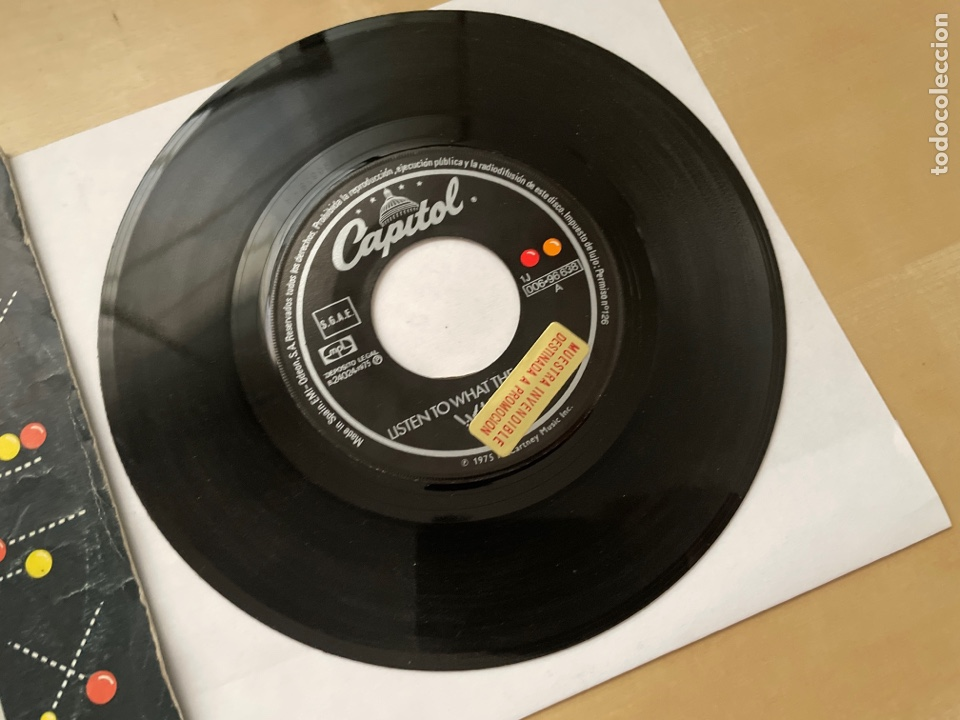 Discos de vinilo: Wings - Listen To What The Man Said - 1974 Single Promo - SPAIN - Foto 2 - 285999618