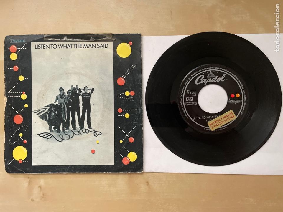 WINGS - LISTEN TO WHAT THE MAN SAID - 1974 SINGLE PROMO - SPAIN (Música - Discos - Singles Vinilo - Pop - Rock Internacional de los 50 y 60)