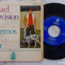 Discos de vinilo: RAPHAEL, FESTIVAL EUROVISIÓN 1967. HABLEMOS DEL AMOR + 3 CANCIONES. EP ORIGINAL ESPAÑA AÑO 1967. Lote 286051153