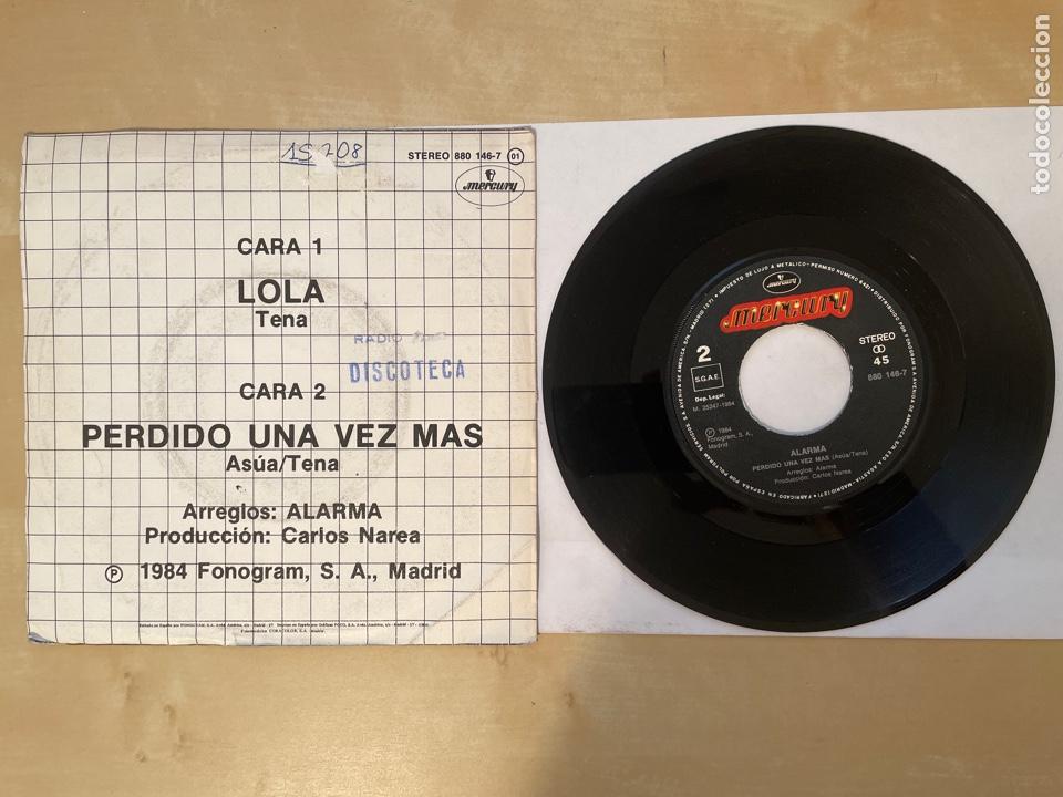 Discos de vinilo: Alarma - Lola / Perdido Una Vez Mas - Single 1984 - SPAIN - Foto 3 - 286053663