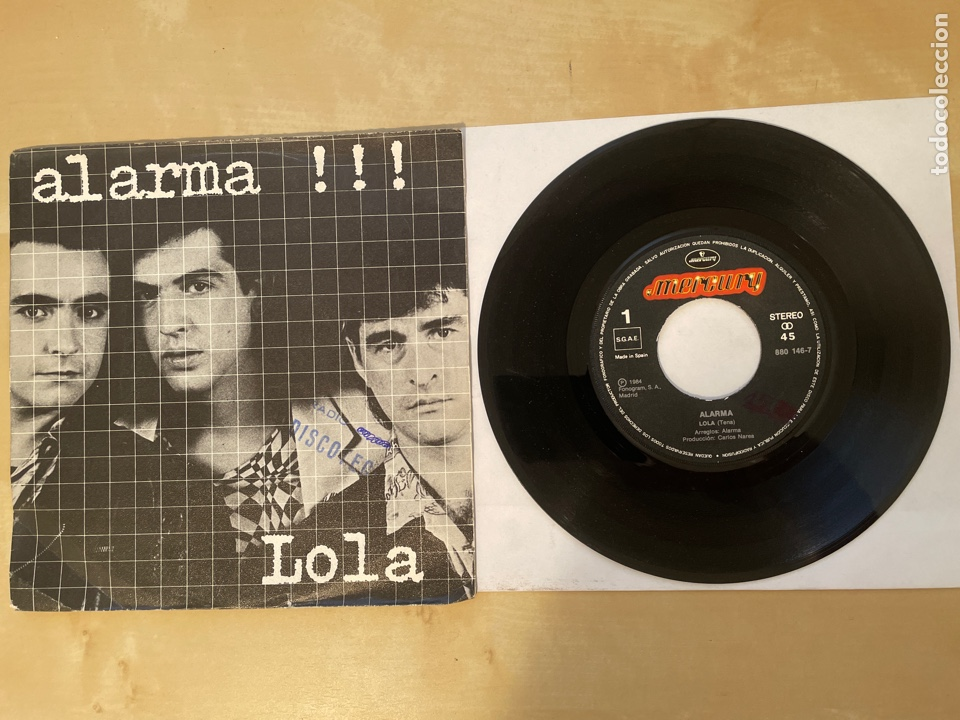 ALARMA - LOLA / PERDIDO UNA VEZ MAS - SINGLE 1984 - SPAIN (Música - Discos - Singles Vinilo - Grupos Españoles de los 70 y 80)