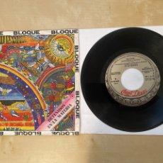 Discos de vinilo: BLOQUE - DETENIDOS EN LA MATERIA - SINGLE PROMO 1981 - SPAIN. Lote 286056468