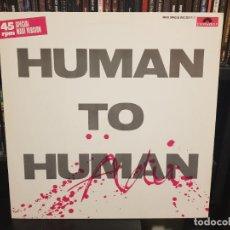 Discos de vinilo: ADU - HUMAN TO HUMAN. Lote 286057268
