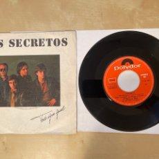 Discos de vinilo: LOS SECRETOS - TODO SIGUE IGUAL - SINGLE 1982 - SPAIN. Lote 286061268