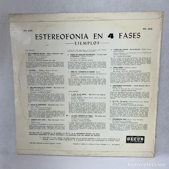 Discos de vinilo: LP - VINILO PHASE 4 STEREO SAMPLER / ESTEREOFONÍA EN 4 FASES - ESPAÑA - AÑO 1964 - Foto 4 - 286143023
