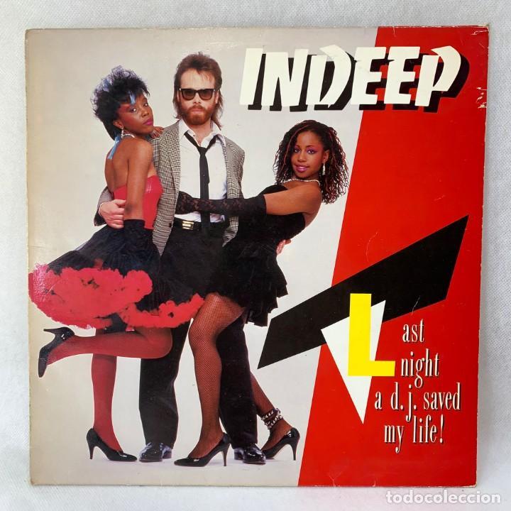 LP - VINILO INDEEP - LAST NIGHT A D.J. SAVED MY LIFE - ESPAÑA - AÑO 1983 (Música - Discos - LP Vinilo - Disco y Dance)