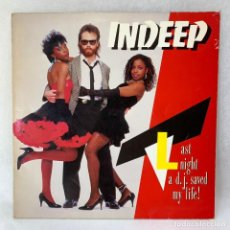 Discos de vinilo: LP - VINILO INDEEP - LAST NIGHT A D.J. SAVED MY LIFE - ESPAÑA - AÑO 1983. Lote 286144648