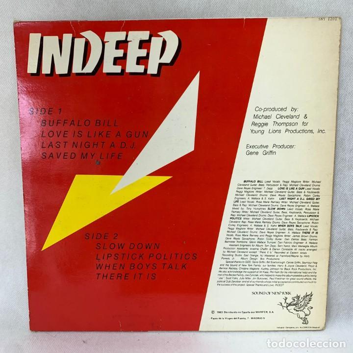 Discos de vinilo: LP - VINILO INDEEP - LAST NIGHT A D.J. SAVED MY LIFE - ESPAÑA - AÑO 1983 - Foto 4 - 286144648