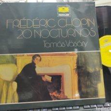 Disques de vinyle: FREDERIC CHOPIN DOBLE LP 20 NOCTURNOS TAMAS VASARY PIANO CARPETA DOBLE ESPAÑA 1981. Lote 286158508
