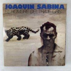 Disques de vinyle: LP - VINILO JOAQUIN SABINA - EL HOMBRE DEL TRAJE GRIS - DOBLE PORTADA + ENCARTE - ESPAÑA - AÑO 1988. Lote 286169148
