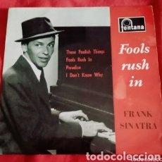 """Discos de vinilo: 1959 ANTIGUO VINILO 7""""45 RPM EP, REINO UNIDO. FRANK SINATRA FOOLS RUSH IN, PARADISE. Lote 286175123"""