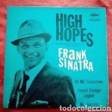 "Discos de vinilo: 1959 ANTIGUO VINILO 7"" 45 RPM, EP GRAN BRETAÑA. FRANK SINATRA HIGH HOPES. ALL MY TOMORROW,. Lote 286177323"