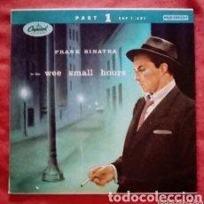"""Discos de vinilo: 1955 ANTIGUO VINILO 7 """"45 RPM EP ITALIA FRANK SINATRA - IN THE WEE SMALL HOURS, PART 1. Lote 286178028"""