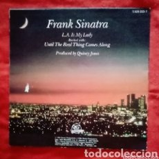 """Discos de vinilo: 1984 ANTIGUO VINILO 7 """" 45RPM EP. FRANK SINATRA - L. A. IS MY LADY, UNTIL THE REAL THING COMES ALONG. Lote 286178643"""